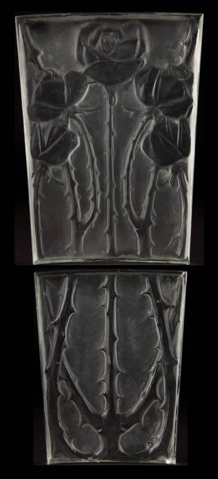 R. Lalique Roses Architectural Panel
