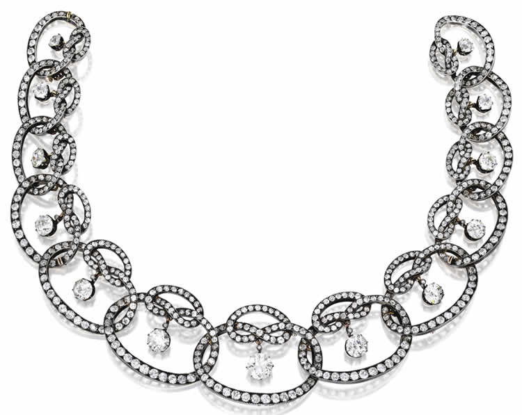 Rene Lalique Ruban De Diamant Necklace