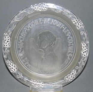 Rene Lalique Bottle Coaster Sainte-Odile
