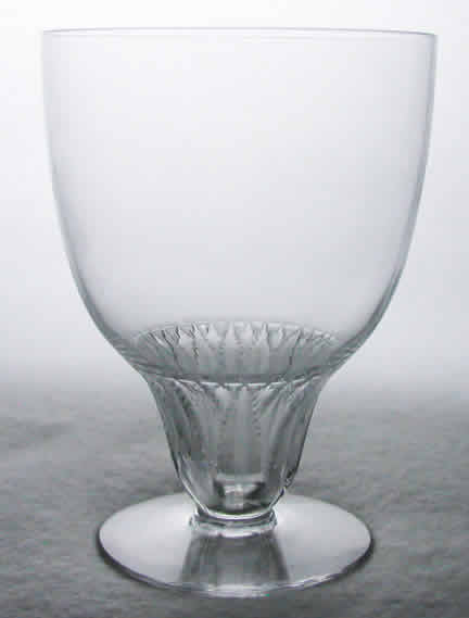 Rene Lalique Saumur Water Glass