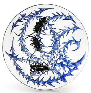 R. Lalique Scarabees Plate