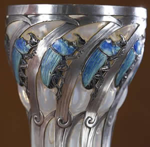 R. Lalique Scarabees Rhinoceros Glass