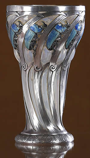Rene Lalique Glass Scarabees Rhinoceros