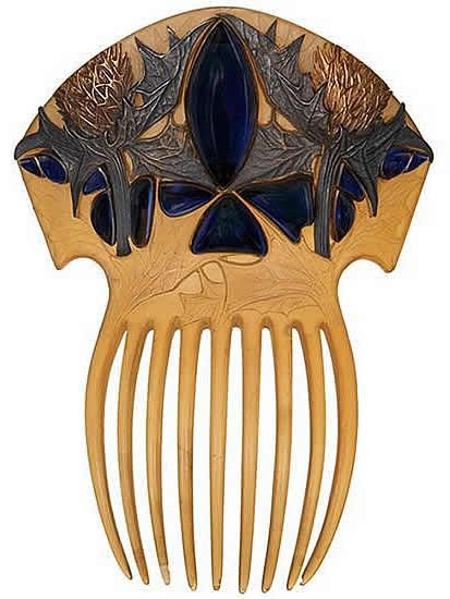 Rene Lalique Comb Sea Holly