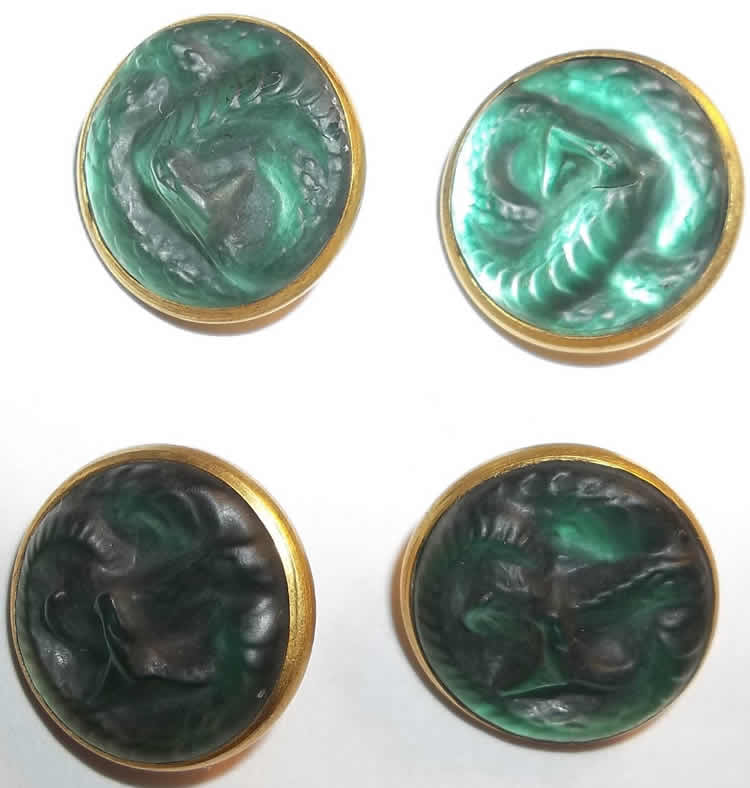 Rene Lalique Serpent Button