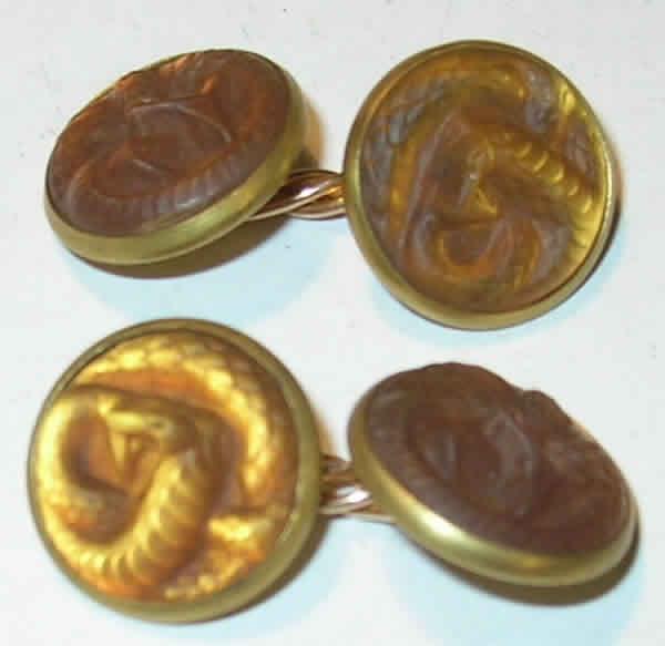Rene Lalique Serpent Cufflink