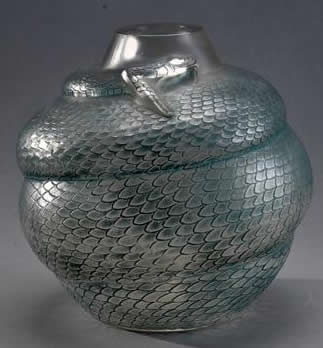 Rene Lalique Vase Serpent
