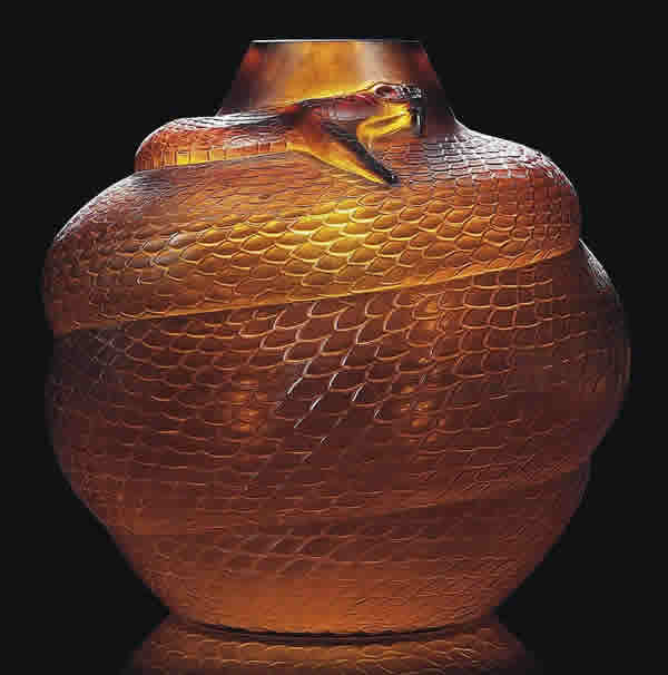 Rene Lalique Serpent Vase 3529 Rlalique