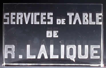 Rene Lalique Sign Services De Table De R.Lalique
