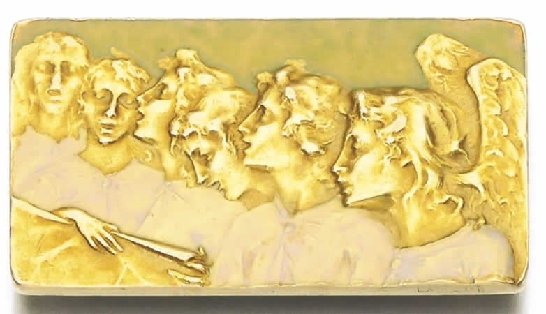 R. Lalique Singing Angels Brooch