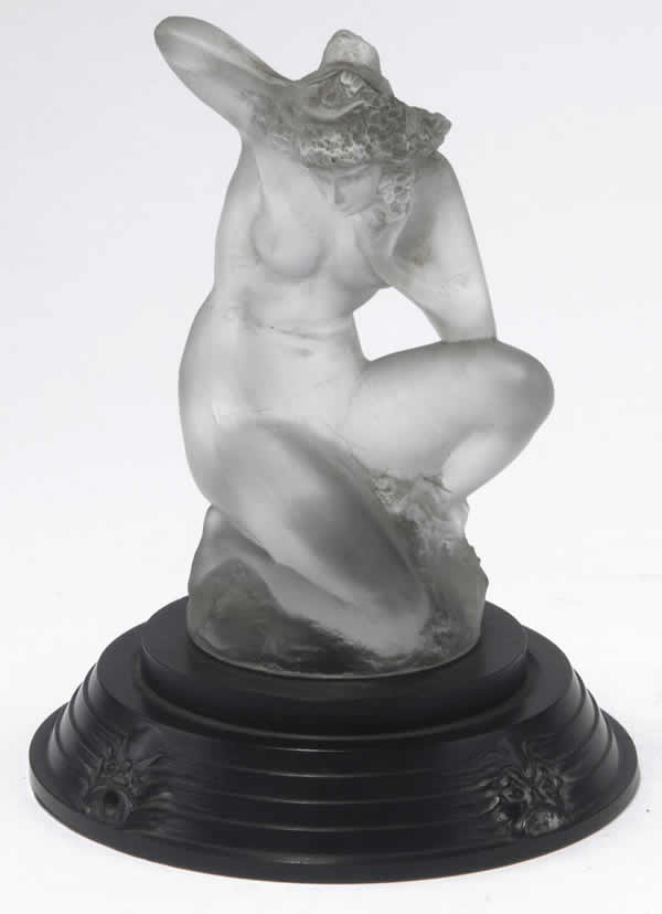 Rene Lalique Sirene On Masques Base Statue