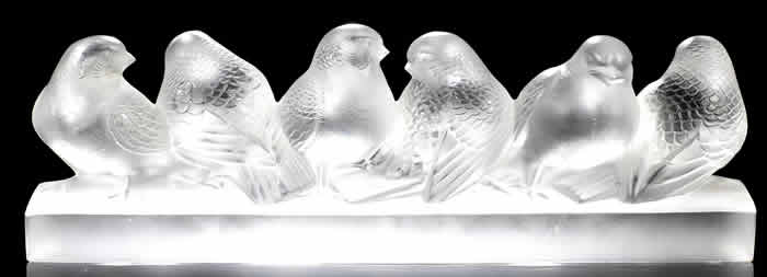 Rene Lalique Six Birds Decoration