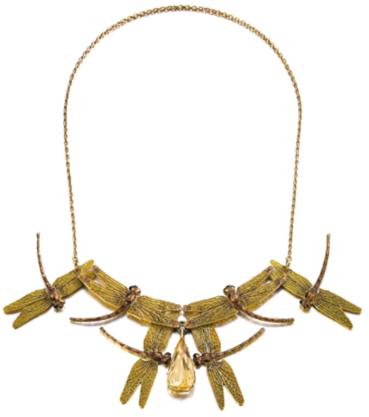 Rene Lalique Six Dragonflies Necklace