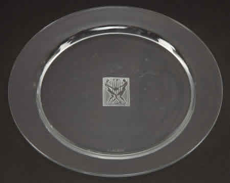 R. Lalique Strasbourg Plate