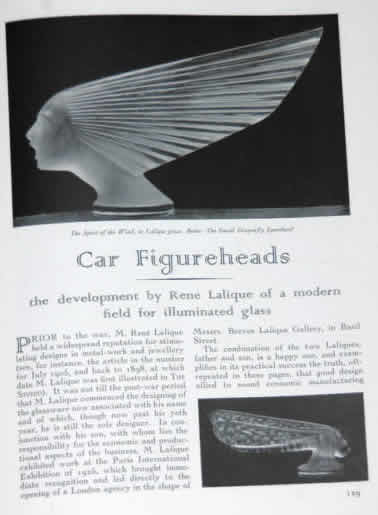 Rene Lalique The Studio February 1931 Magazine