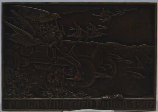 Rene Lalique Plaque Targa Vincenzo Florio 1907