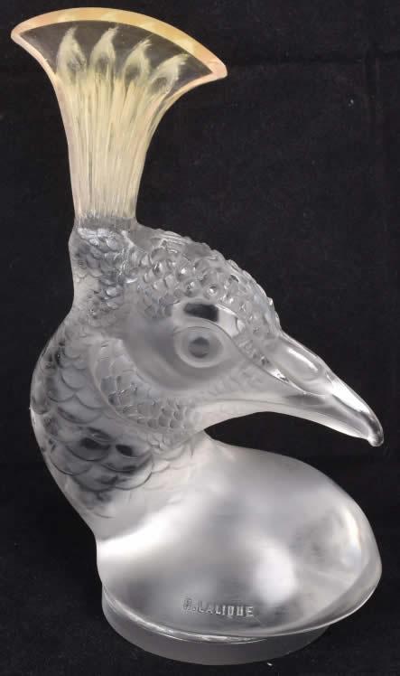 Rene Lalique Mascotte Tete De Paon