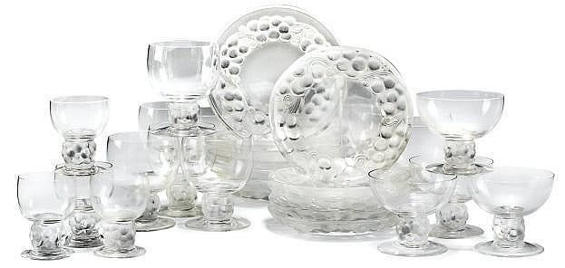 Rene Lalique Thomery Tableware