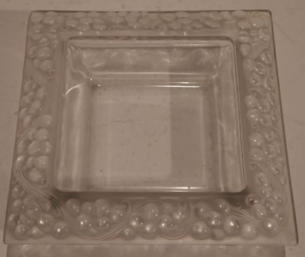 Rene Lalique Square Bowl Thomery