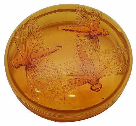 Rene Lalique  Three Dragonflies Box