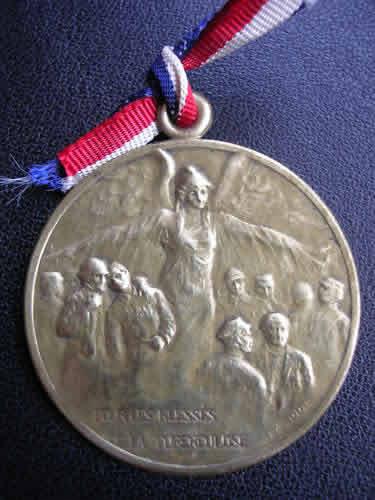 Rene Lalique Medal Pour les blesses de la Tuberculose