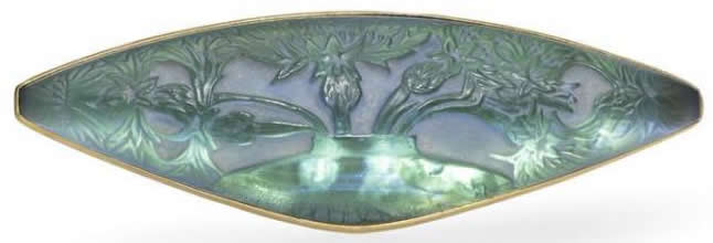 R. Lalique Vase De Bluets-2 Brooch