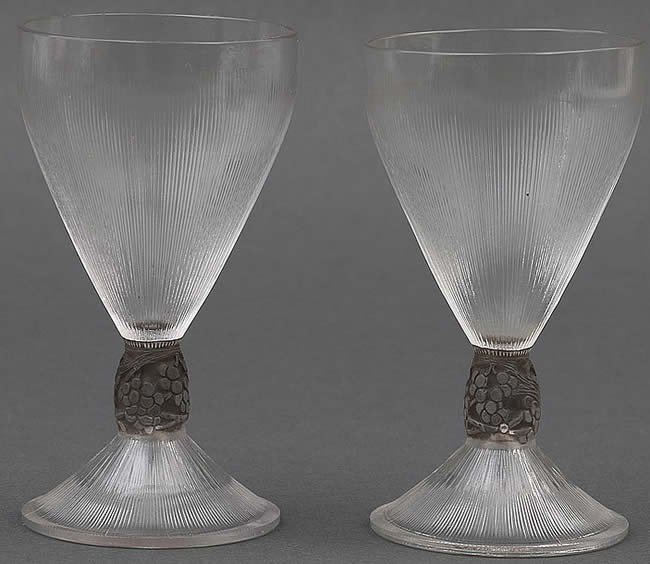 Rene Lalique Vigne Strie Glass