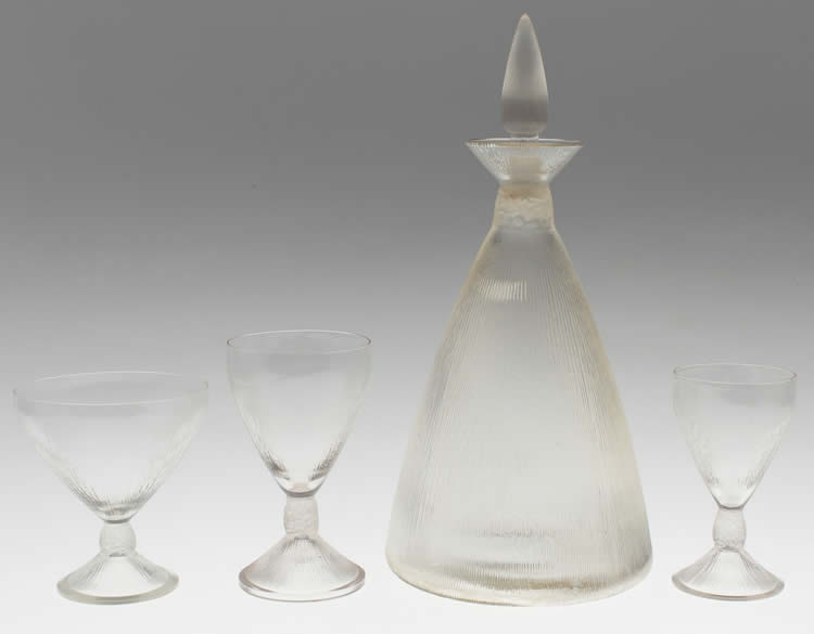Rene Lalique  Vigne Strie Tableware