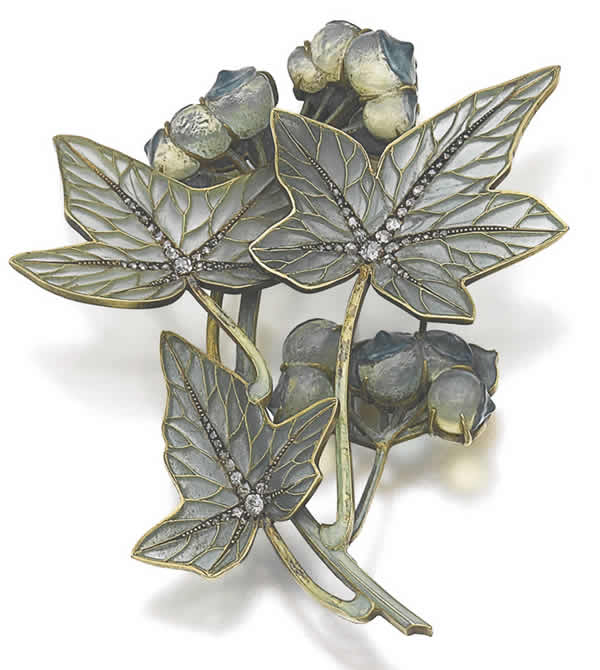 Rene Lalique White Bryony Brooch