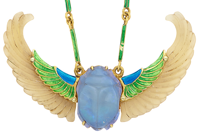Rene Lalique Winged Scarab Pendant