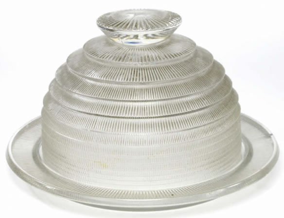 Rene Lalique Wingen Cheese Dome