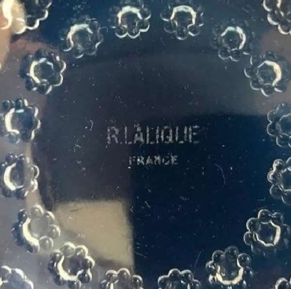 R. Lalique Asters Plate 2 of 2