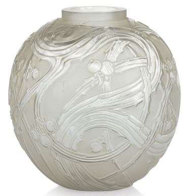 Rene Lalique Vase Baies