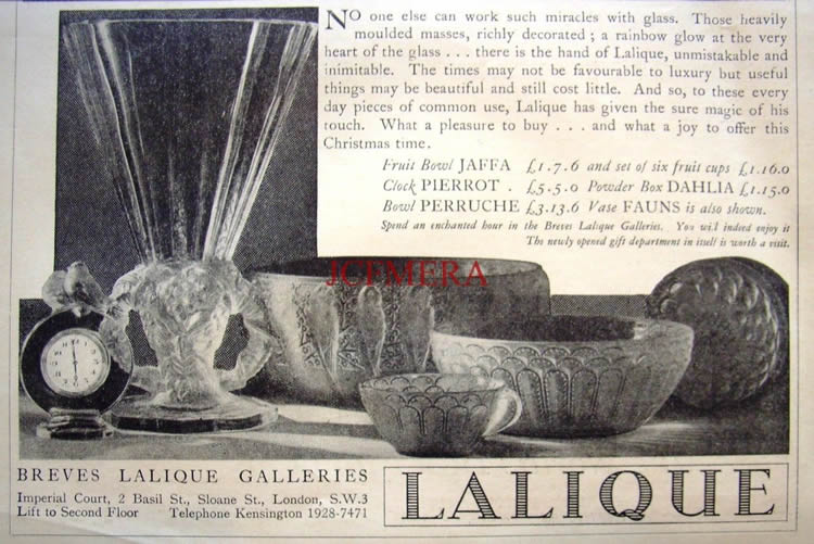 Rene Lalique Breves Galleries 1932 Magazine Ad