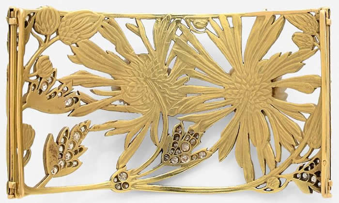 R. Lalique Chrysanthemums Collar 2 of 2