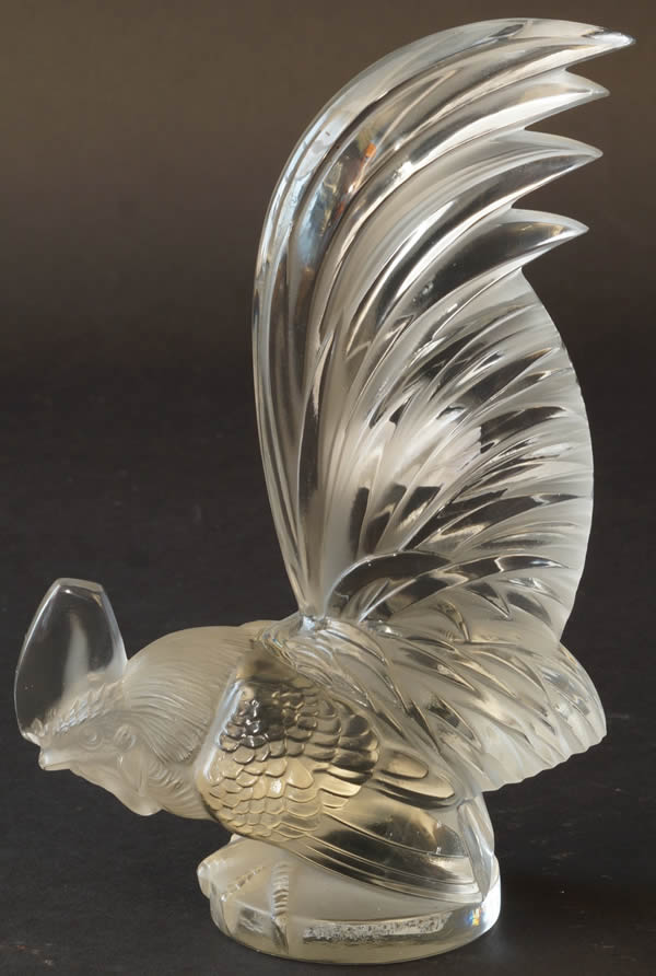 Rene Lalique Car Mascot Cockerel