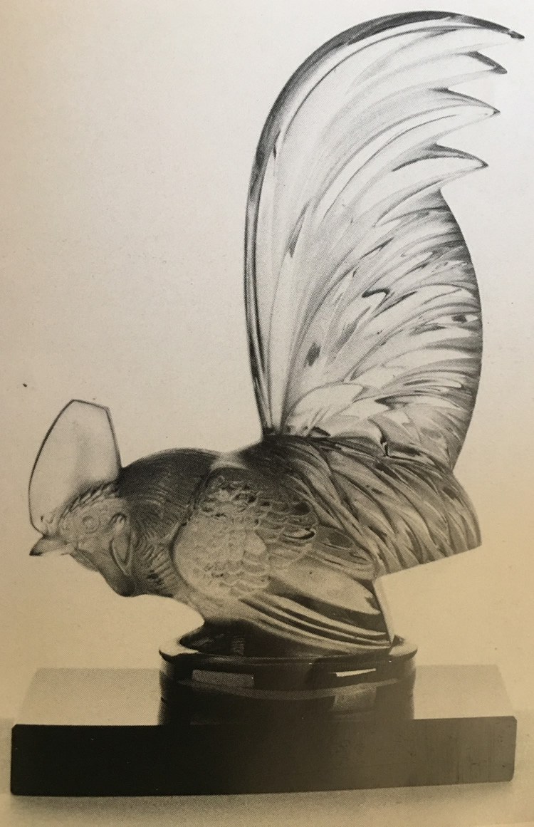 Rene Lalique Coq Nain Bookend