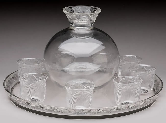 Rene Lalique Drinks Service Coquelicot