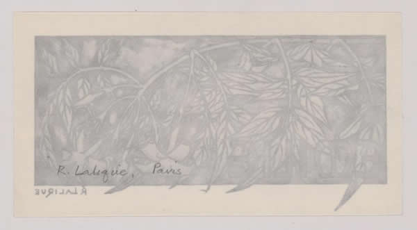 R. Lalique Emilie Bookplate 2 of 2