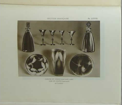 Rene Lalique Exposition Internationale Des Arts Decoratifs Et Industriels Modernes Paris - 1925 Rapport General Vol. 5 Accessoires Du Mobilier Exhibition Report