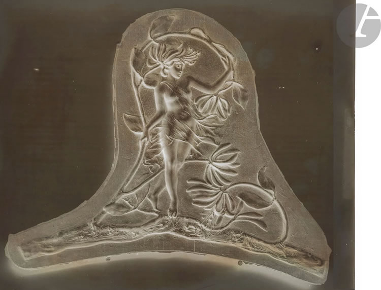 Rene Lalique Forest Woman Silver Gelatin-Bromide Dry Plate