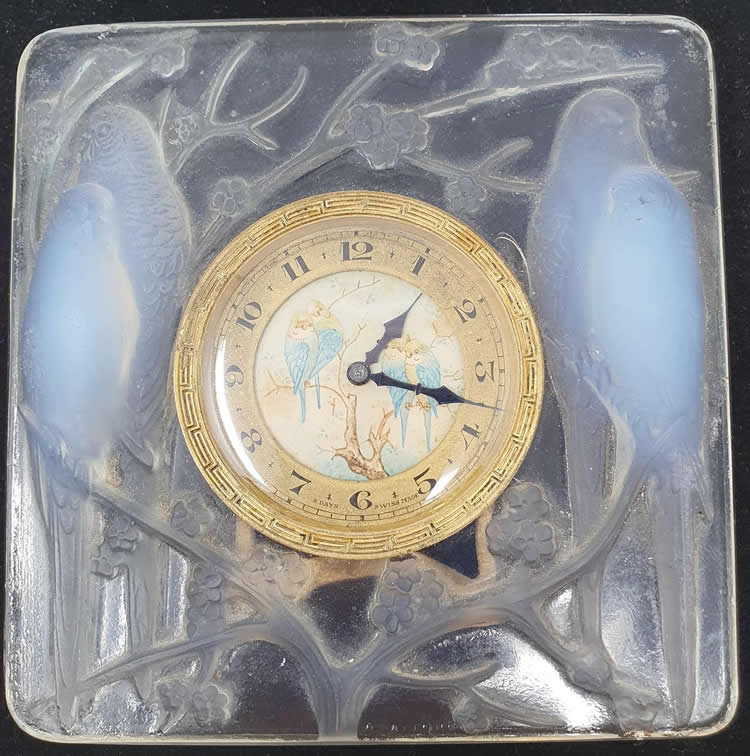 Rene Lalique  Inseparables Clock