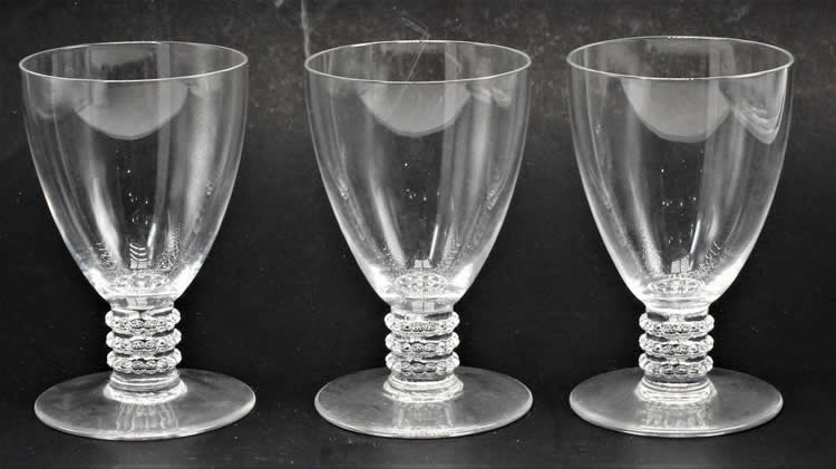 Rene Lalique Kobe Wine Glass