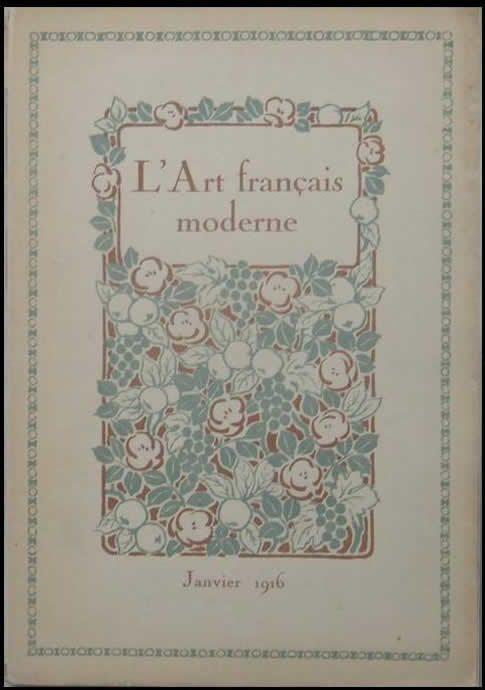 R. Lalique L'Art Francais Moderne January 1916 Magazine