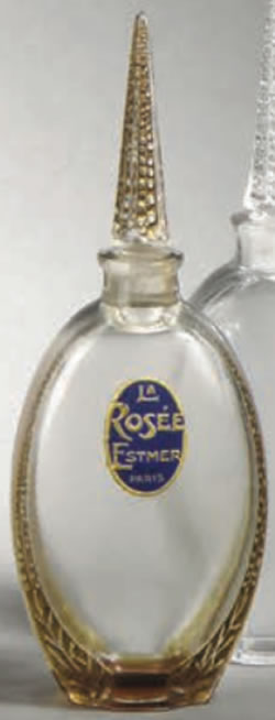 Rene Lalique La Rosee Perfume Bottle