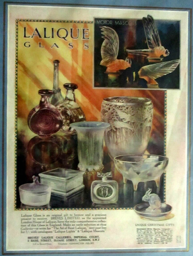 Rene Lalique Breves Galleries Britannia Dec. 1929 Magazine Ad