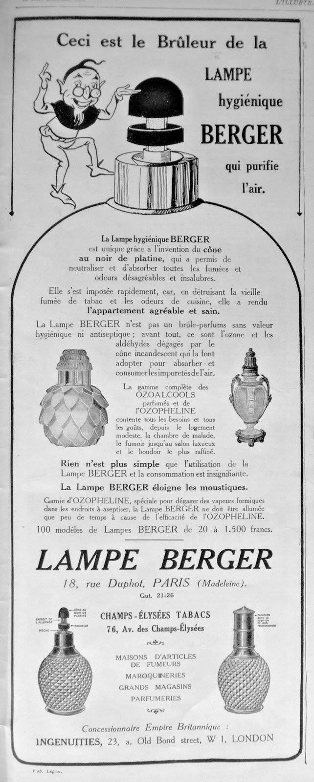 Rene Lalique Lampe Berger Advertisement