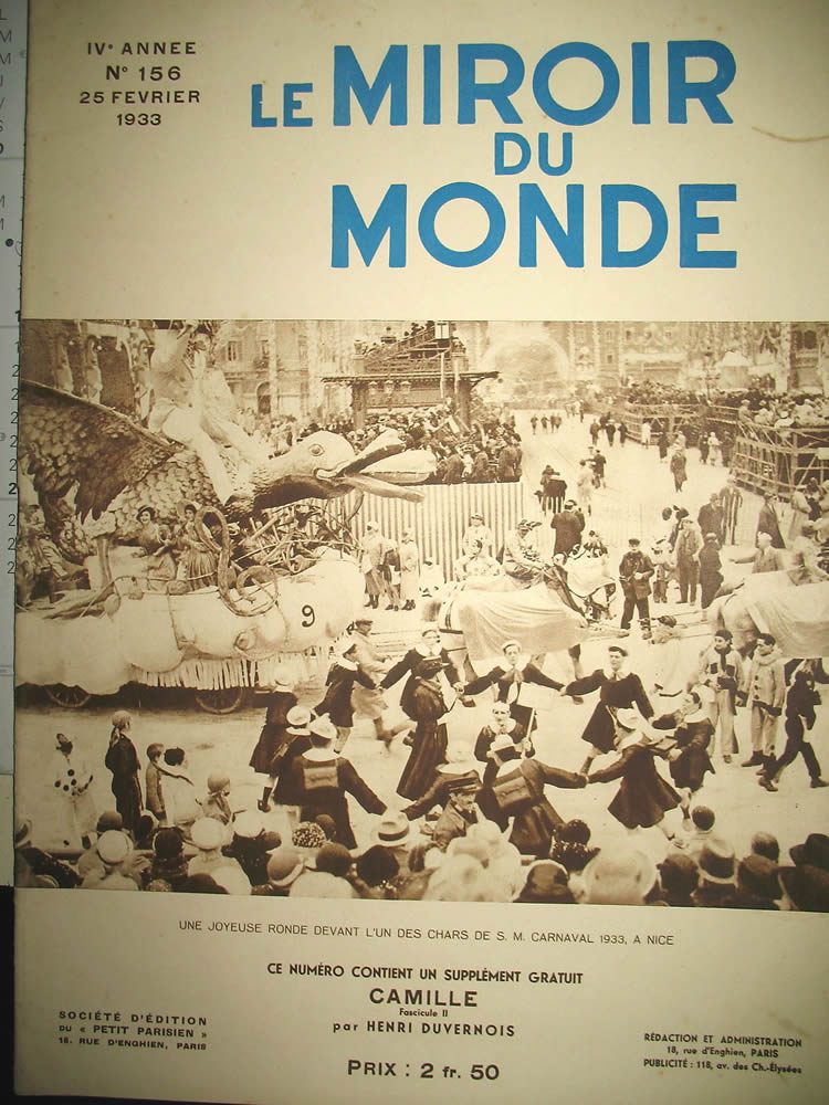 R. Lalique Le Miroir Du Monde Feb 25 1933 Magazine 2 of 2
