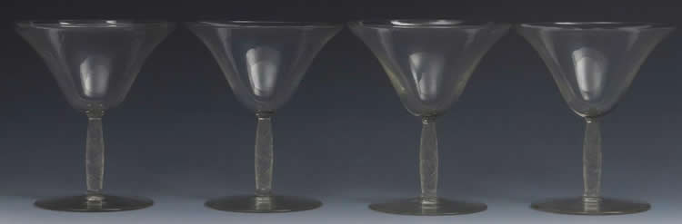 Rene Lalique Champagne Glass Logelbach