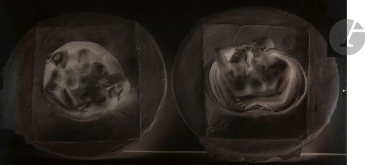 Rene Lalique Silver Gelatin-Bromide Dry Plate Lovers